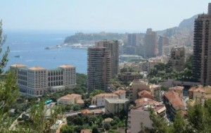 The surge in high-rise apartments neatly demarcate Monaco's low tax regime from that of France...