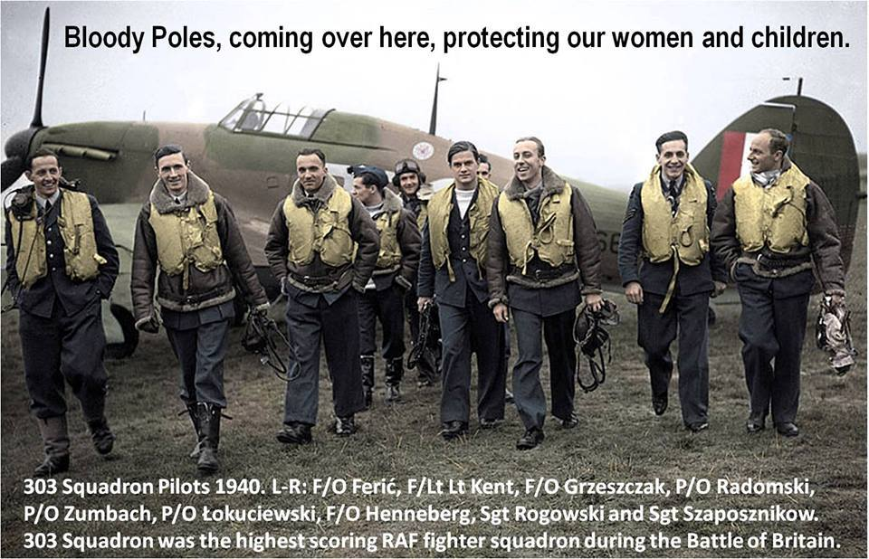 The Few - included pilots from Poland and many other countries